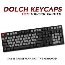 108 Keys Pbt Dolch Keycap Top/side Printed For Mechanical Keyboard  Full Set Dolch Keycaps Keys Corsair Bfilco Minila