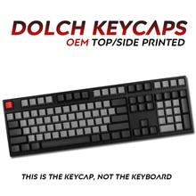 Juego completo de teclas Pbt Dolch, tapa de tecla Superior/lateral impreso para teclado mecánico, teclas Dolch Corsair Bfilco Minila, 108 teclas