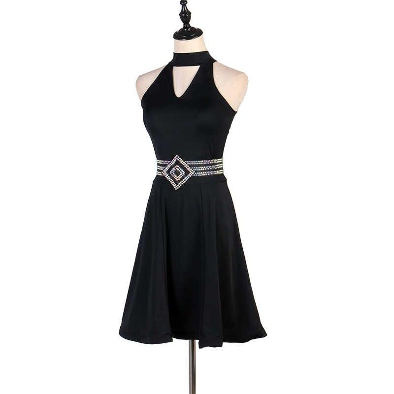 Стандартная юбка для латинских танцев женская элегантная Rhinestone Rumba для самбы и латинских танцев платье для игры для взрослых конкурс латинских танцев платья