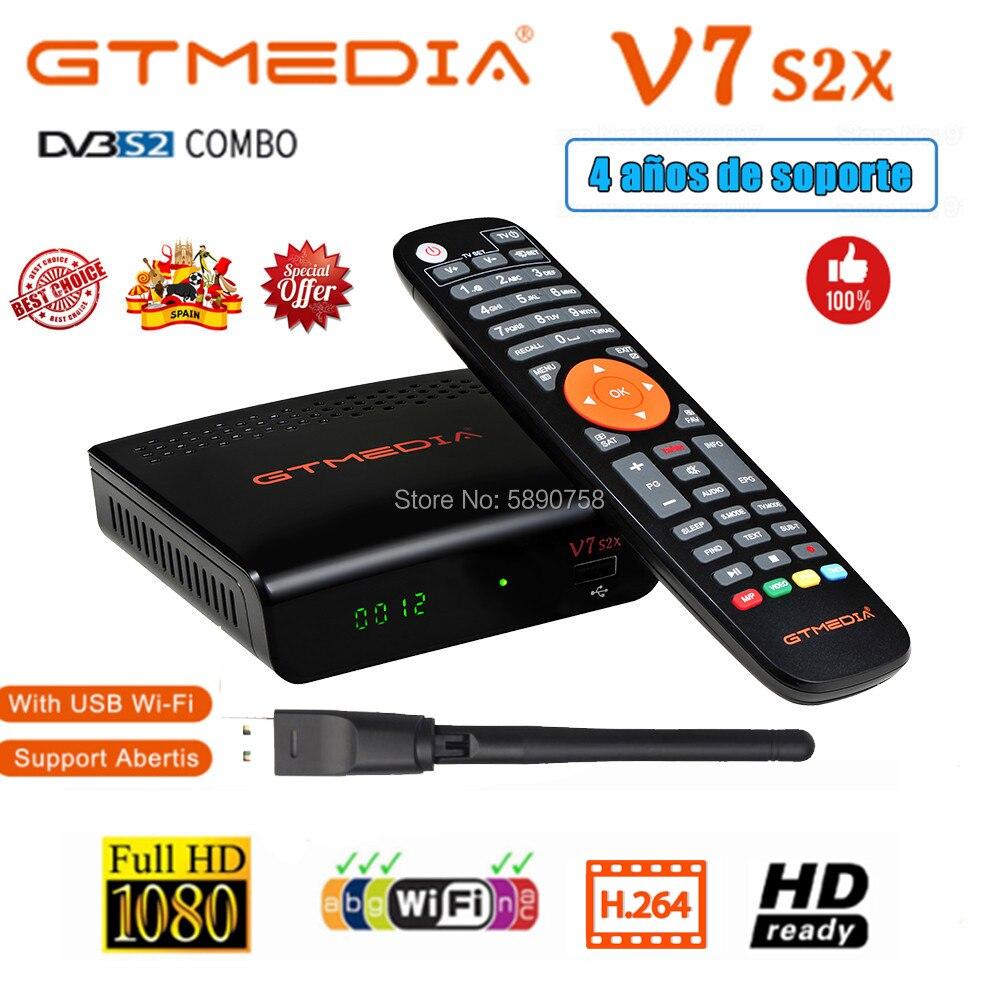 Горячая DVB-S2 Gtmedia V7S HD V7 S2X V7 pro 1080P цифровой спутниковый ресивер с usb Wi-Fi, Поддержка для совместного использования сети дополнительное по не вхо...