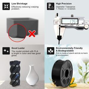 Image 4 - SUNLU 3d Filament 1.75mm 1KG PETG ABS Silk PLA Filament 3d Printer Materials Accuracy Dimension +/ 0.02 TPU 0.5KG