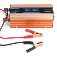 Inverter 500/1200/2200W DC 12V/AC 220V Voltage Transformer Pure Sine Wave Power Inverter Smart Double LCD display Car Power