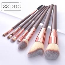 ZZDOG 7/12Pcs Professional Makeup Brushes Set Large Fluffy Powder Foundation Eye Shadow Blending Cosmetic Beauty Tools Kit Hot