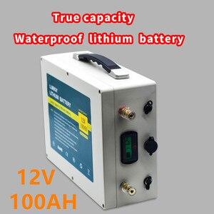 12V 100AH литиевая батарея, 12V литиевая батарея 100ah с зарядным устройством 10A для пропеллера корабля/солнечной энергии