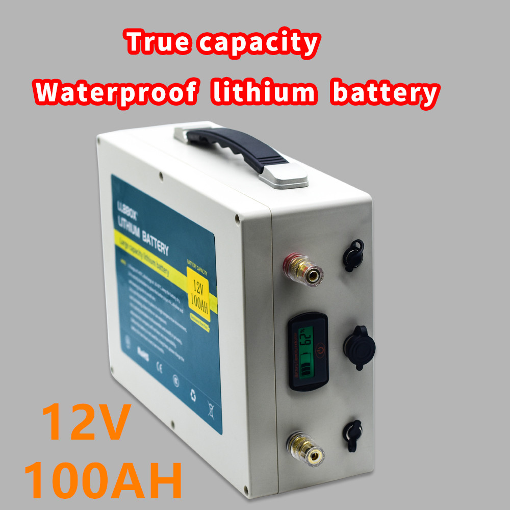 Large capacity 12V100AH <font><b>lithium</b></font> <font><b>battery</b></font> pack true capacity 12V100ah waterproof <font><b>lithium</b></font> <font><b>battery</b></font> for ship propeller /solar power image