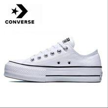Converse – Chuck Taylor All Star pour hommes et femmes, chaussures classiques et originales, en lona blanche, pour monopatite