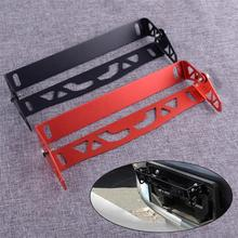 DWCX Universal Aluminum Alloy Car Front Bumper Adjustable Tilt Rotate License Plate Mount Bracket Relocator Holder Bar Frame