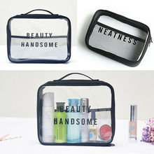 2019 New Fashion Travel Wash Bag Men Women Toiletry Organizer Pouch Cosmetic MakeUp Case Cosmetic Bags