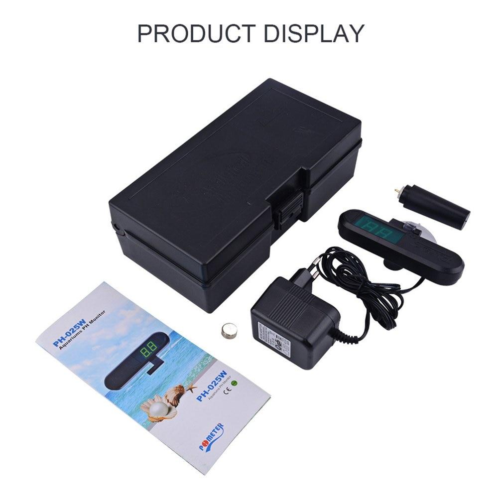 0.0-9.9 PH Tester Aquarium PH Detector PH Monitor With Suction Cup Digital PH Meter PH Detector Water Testing Tools
