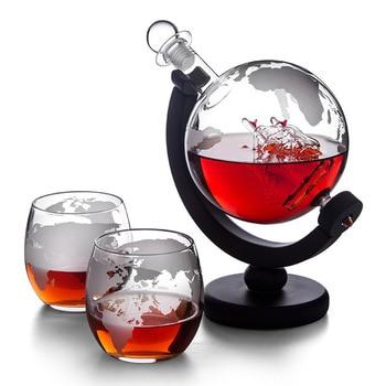 Z-NING Creative Glass Wine Set Glass Wine Bottle Whisky Glass Red Wine Decanter Home Kitchen Brandy Glass Bar Decoration 7