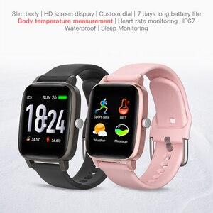 Image 2 - T98 Smartwatch قياس درجة حرارة الجسم مراقب معدل ضربات القلب مقاوم للماء يمكن ارتداؤها جهاز بلوتوث ساعة ذكية لنظام أندرويد IOS