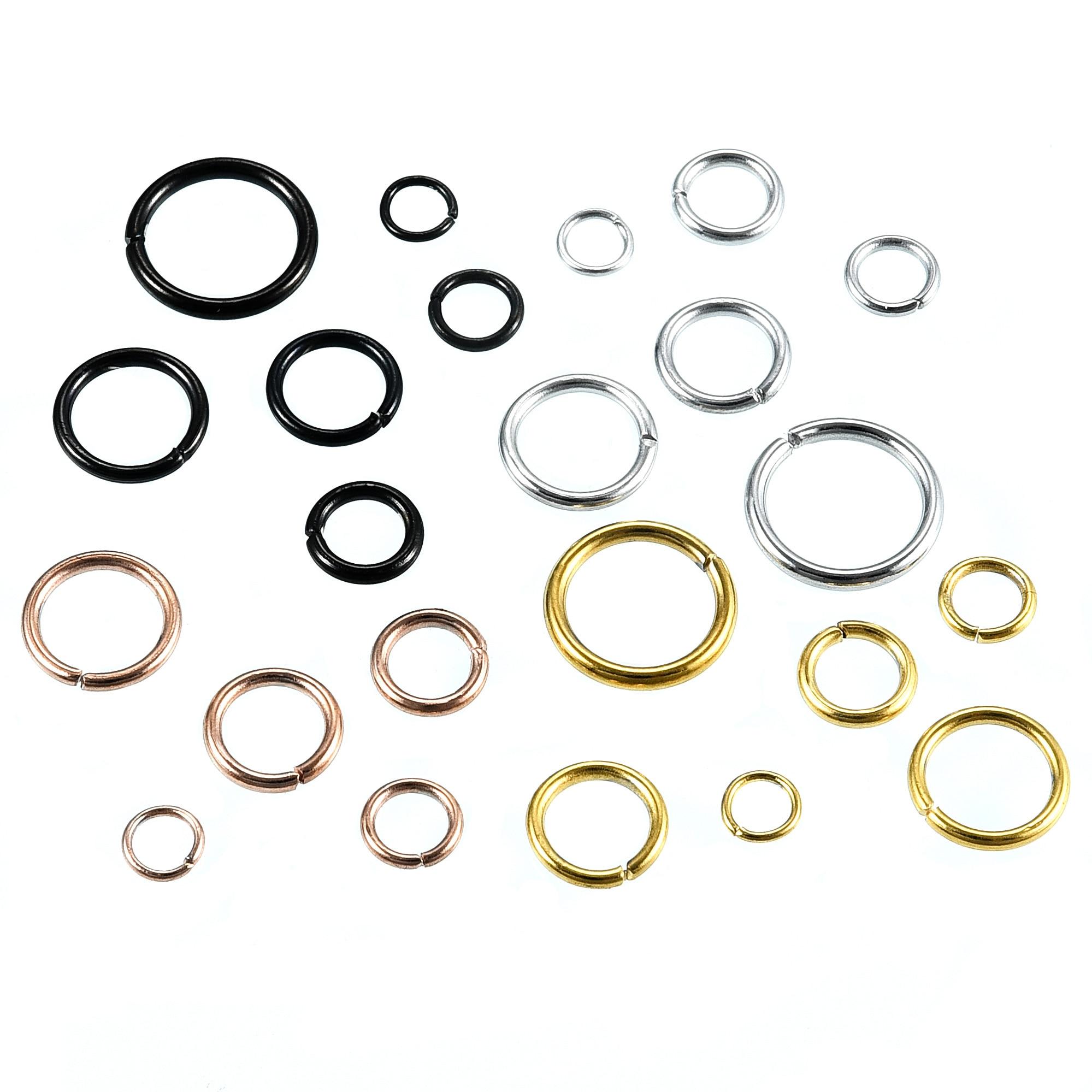 100 шт./лот открытые соединительные кольца из нержавеющей стали, прямые разъемные кольца 4/5/6 мм, соединители для рукоделия, фурнитура для изго...