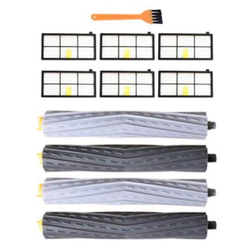 Набор роликовых щеток и фильтров HEPA для IRobot Roomba 800, 860, 865, 866, 870, 871, 880, 885, 886, 890, 900, запчасти для пылесоса