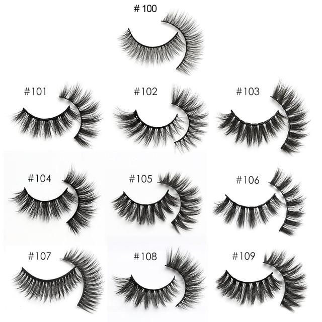wholesale mink eyelashes bulk 4/20/100/200pcs natural false eye lashes fluffy wispy faux 3d lashes fake eyelash long soft 6