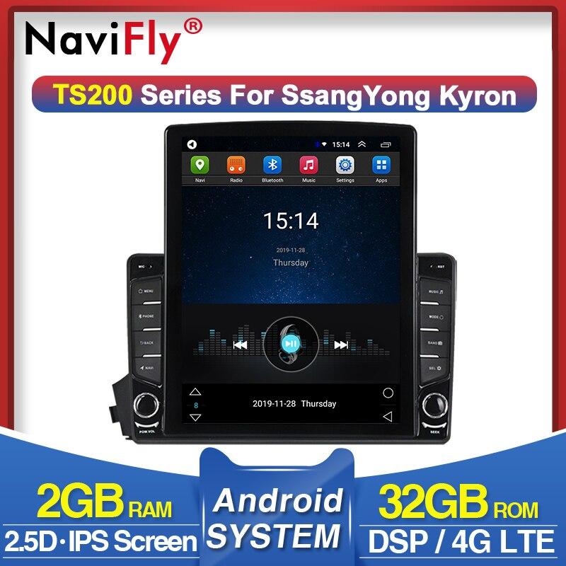 NaviFly вертикальный Tesla экран 4G LTE радио для Ssangyong Kyron Actyon Android Мультимедиа GPS навигация WIFI Carplay|Мультимедиаплеер для авто|   | АлиЭкспресс