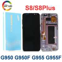 Original Super AMOLED S8 with black dot pixels for SAMSUNG Galaxy S8 G950 G950F Display S8Plus G955 G955F Touch Screen Digitizer