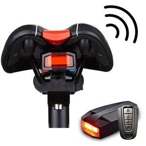 4 em 1 anti-roubo bicicleta alarme de segurança sem fio controle remoto alerter lanternas traseiras bloqueio warner impermeável bicicleta lâmpada acessórios
