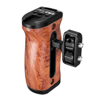 UURig R027 Wooden DSLR Camera 1/4'' Screw Hand Grip Handle with cold shoe Mount Led Video Light MIC Monitor for Rig Accessories