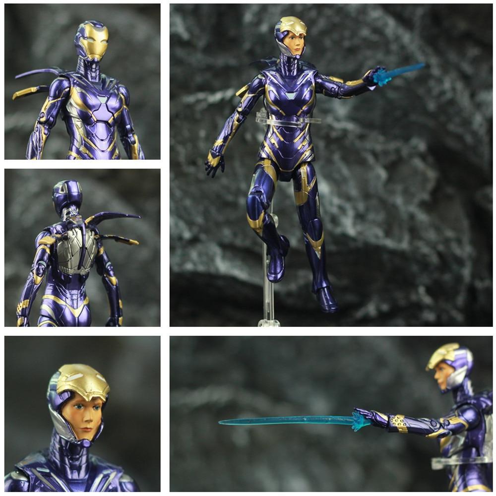 "Marvel 2019 Avengers 4 Endgame Iron Man Rescue Pepper Potts 7"" 17cm Action Figure Ironman Legends Lady Purple Armor ZD Toys DollAction & Toy Figures   -"