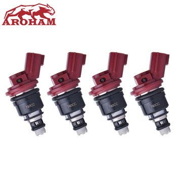 4X New High Quality Fuel Injector 16600-RR544 740cc/min Side Feed For Nissan Silvia Skyline SR20 S13 S14 S15 SR20DET KA24DE