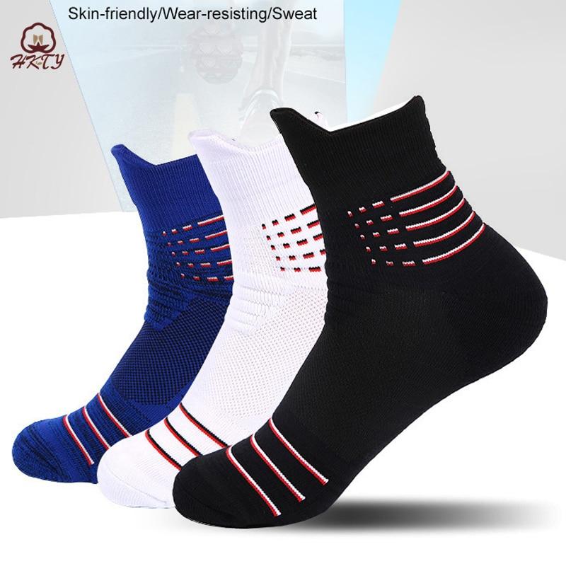 Крутые мужские спортивные носки для бега по щиколотку лучший баскетбольные спортивные носки спортивные зимние теплые походные лыжные