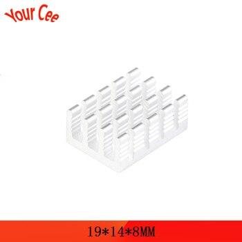 10Pcs Heatsink 19*14*8mm Radiator Cooler Radiator Aluminum 19x14x8mm Cooling Accessories DIY Heat Sink CPU GPU IC Memory Chip