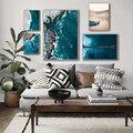 Постер скандинавский морской пейзаж, настенная Картина на холсте с изображением береговой линии, скандинавский пейзаж, украшение для дома