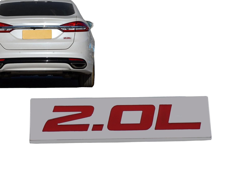 Хромированная наклейка для двигателя, крышка крыла багажника 2.0L 2,0 L