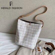 Винтажные сумки ведро для женщин Большая вместительная сумка