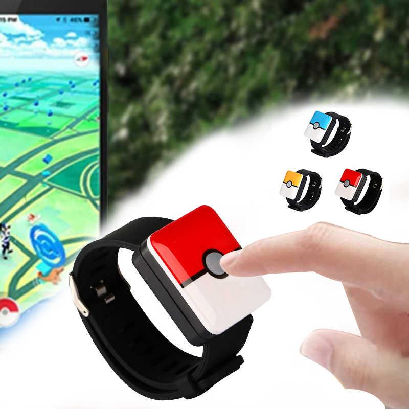 บลูทูธสมาร์ทนาฬิกาสายรัดข้อมือ Band สำหรับ Pokemons Go PLUS พ็อกเก็ตอัตโนมัติจับสีแดง