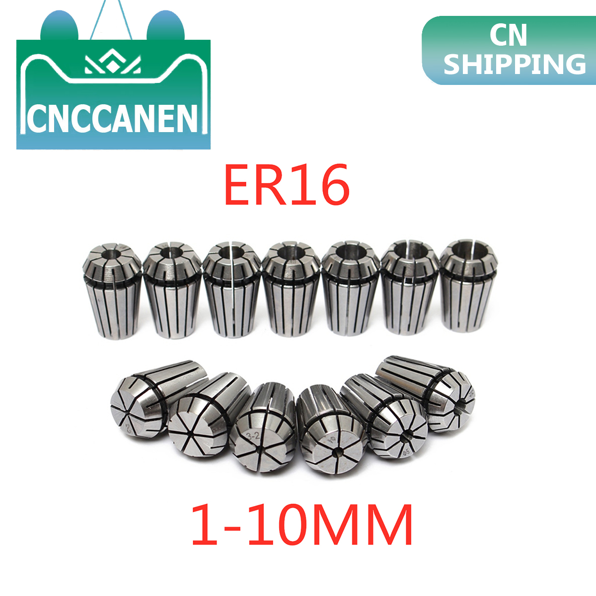 1PC ER16  1/4 6.35 1/8 3.175 1 2 3 4 5 6 7 8 9 10 Mm Spring Collet Set For CNC Engraving Machine Lathe Mill Tool