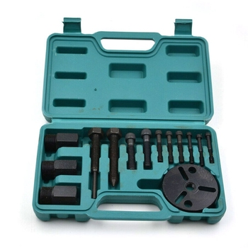 14 Pieces A/C Compressor Clutch Remover Puller Installer Air Conditioning Tools Kit Car Repair