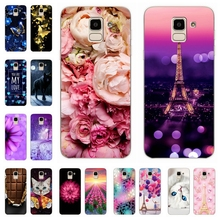 купить Silicone Cover For Samsung Galaxy J6 2018 Case Pattern Phone Cases for Samsung J 6 Plus 2018 600 610 F SM-j600f Funda Coque недорого