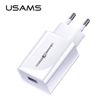 USAMS quick charge QC 3.0 Phone Charger 5V 3A fast charger US EU Universal mobile phone Samsung For iPhone 11 XS