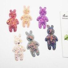 10pcs/bag Glitter Rabbits Patches Cheap Appliqued Wedding Decoration DIY Craft Manualidades Supply Apliques Para Artesanato
