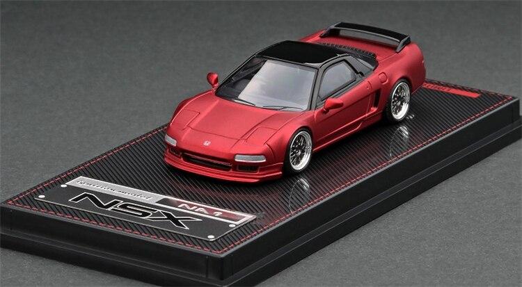 IG 1:64 Honda NSX (NA1) Rojo Mate coche metálico fundido a presión