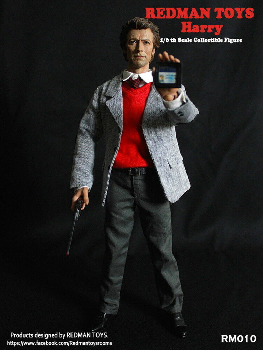 Male Figure Model REDMAN TOYS RM010 1//6th Inspector harry Dirty Harry 1971