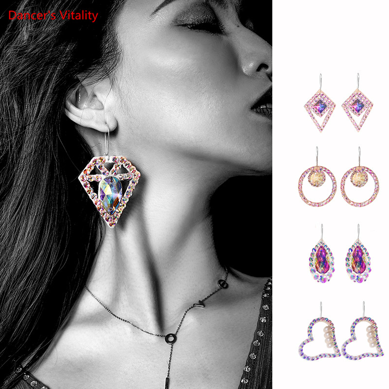 New Women Belly Dance Earrings Long Allergy-Free Earrings Performance Dance Accessories