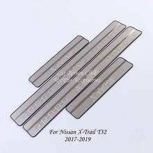 Накладка на порог из нержавеющей стали для nissan x trail t31