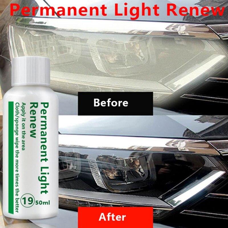 20/50ml Car Headlight Repair Fluid Kit Lamp Cover Scratch Repair Refurbished Brightening Cleaning Restoration