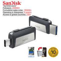 Sandisk OTG type-c et Micro USB 3.0 lecteur flash usb multifonctionnel clé usb lecteur de stylo clé USB 16gb 32gb 64gb 128gb 256gb