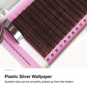 Image 3 - NAGARAKU pestañas postizas de visón sintético Natural, 5 cajas, Color marrón