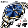 BELUSHI Business Mens Watches Famous Brand Luxury Big Dial Male Watch Waterproof Quartz Gold Watch Men montre homme 2021 1