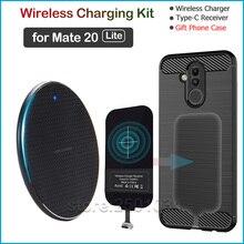 Qi Draadloos Opladen Voor Huawei Mate 20 Lite Qi Draadloze Oplader + Usb Type C Ontvanger Nillkin Adapter Connector Gift tpu Case