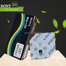 30pcs PARA SONY Original Novo bateria de Relógio Único grão 337 SR416SW Prata 1.55V botão célula de bateria para o relógio LEVOU Fone De Ouvido