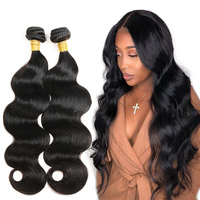 Brazilian Body Wave Hair Bundles 8 28 Inches Human Hair Weave Bundles Natural Black Hair Extensions 3/4 Bundles Alimice Remy