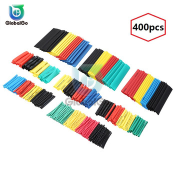 400pcs/Lot Polyolefin Shrinking Assorted Heat Shrink Tube Wire Cable Insulated Sleeving Tubing Set 1 2 3 4 6 8mm 10mm 14mm