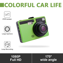 цена на Full HD 1080P 3 Inch Car DVR Camera Video Recorder With G-Sensor Night Vision Motion Detection WDR 170 Wide Angle
