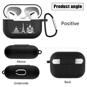 Luxury Cartoon Dubai City Black Silicione Earhone Case For Airpods Pro Bluetooth Wireless Charging Case Cover For Airpod 3 2019