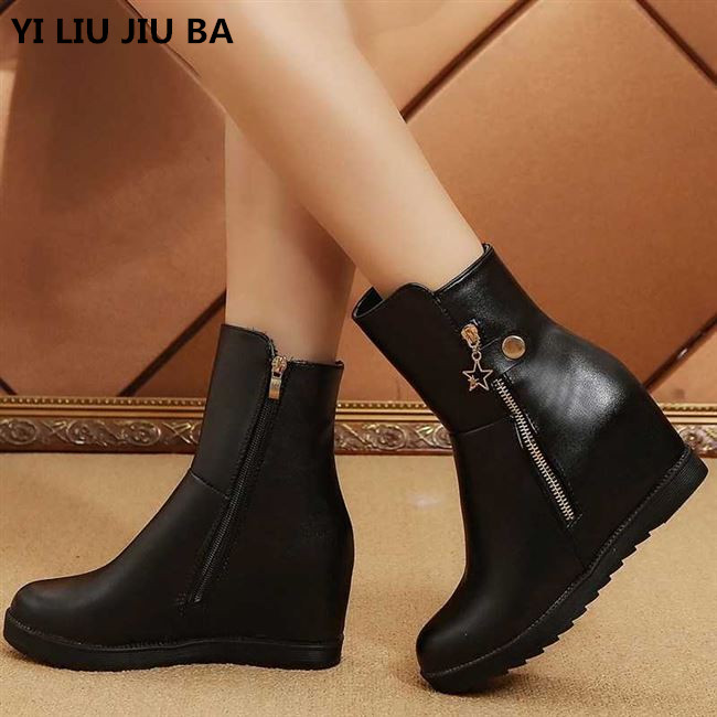 winter Clearance women Boots Casual PU